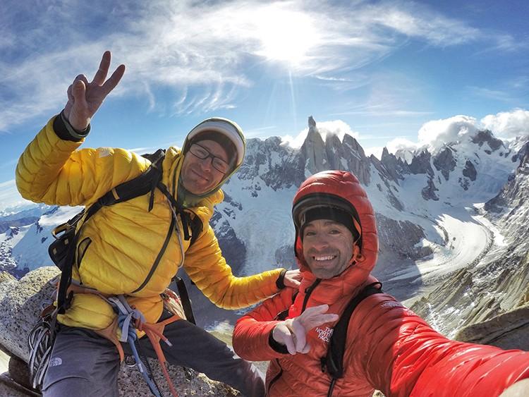 En la cima de la Aguja de la S. Foto: Pouanaiak