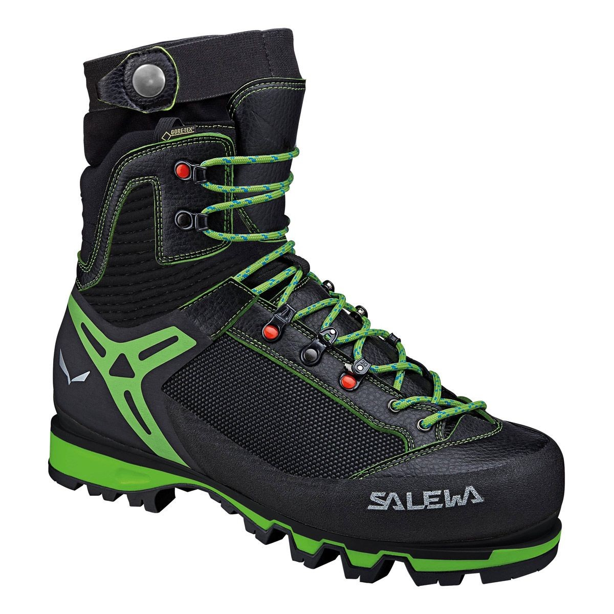 Salewa Vultur Vertical GTX. Bota simple moderna, con flexión de tobillo para escalada