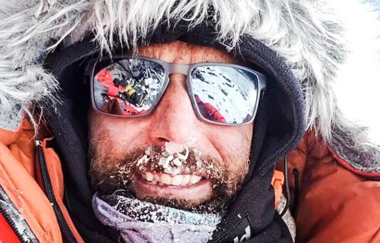 Alex Txikon en el K2. Foto: Alex Txikon