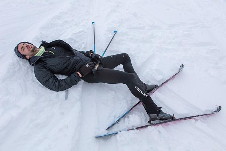 Kilian Jornet, agotado al finalizar la prueba. foto: Foto: Matti Bernitz/Lymbus