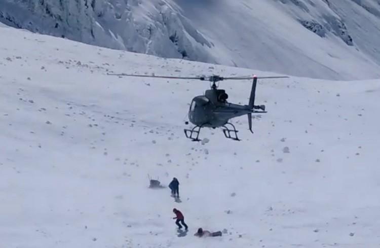 Los helicópteros ya vuelan en el Nanga Parbat