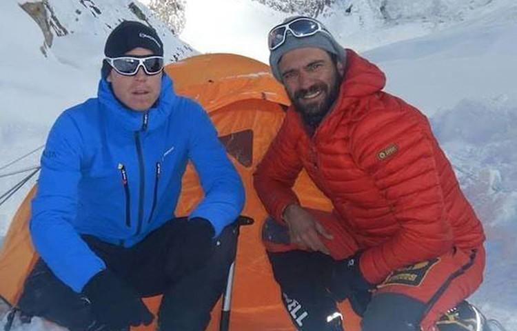 Tom Ballard y Daniele Nardi, en el campo base del Nanga Parbat invernal. Foto: Daniele Nardi