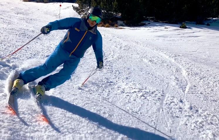 Esquí alpino. Curvas derrapadas, curvas conducidas. Barrabes Escuela de Esquí y Montaña