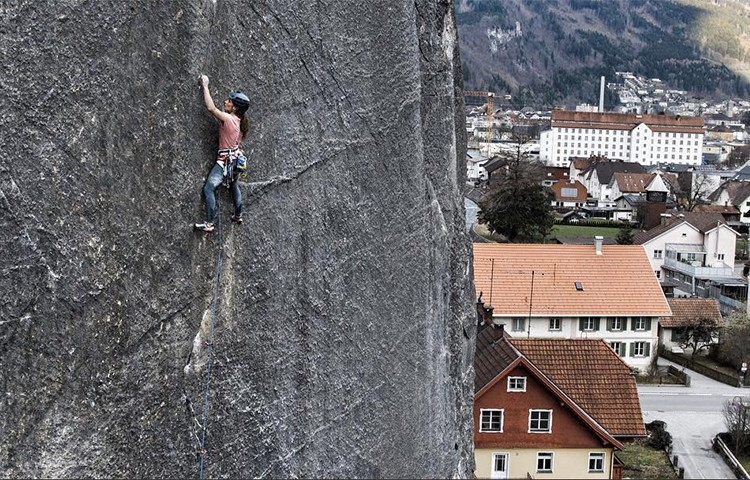 Nadine Wallner en Prinzip Hoffnung. Alpsolut_pictures, Instagram Nadie Wallner
