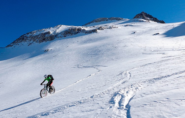 Alberto Lafarga, ascenso-descenso Aneto con Fat Bike