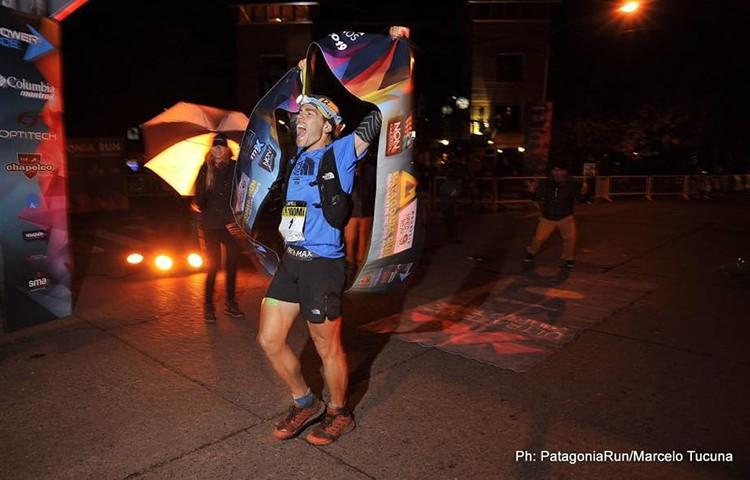 Pau Capell entra en meta en la Patagonia Run. Foto: Marcelo Tucuna