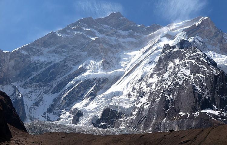 Cara NO del Annapurna. El intento transitará por la muralla de la izquierda. Foto: Adam Bielecki