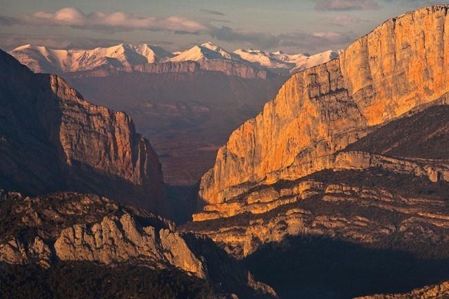 Mont Rebei. A la derecha, Pared de Catalunya. Foto: Prames