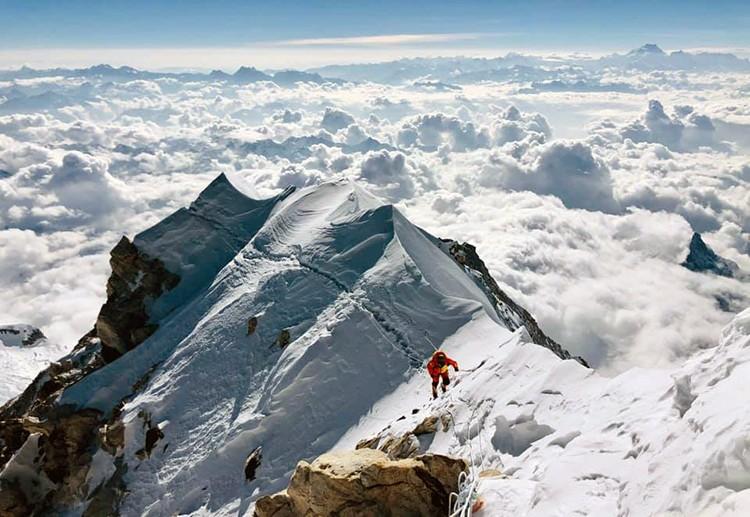 En la arista cimera del Makalu. Foto: Dawa Yangzum Sherpa