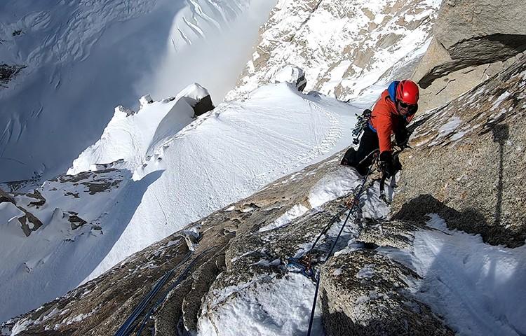 Bru Busom y Marc Toralles, 10ª escalada de la Directa Eslovena, Denali. Foto: Busom, Toralles