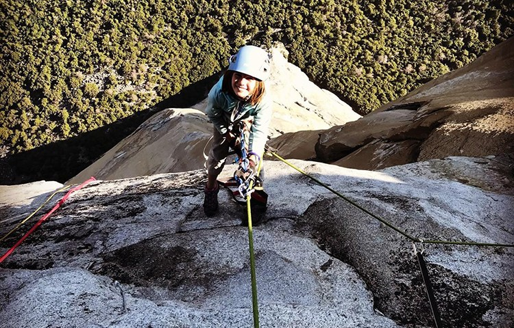 Selah Schneiter escala The Nose con 10 años. Foto: Facebook Glenwood Climbing Guides