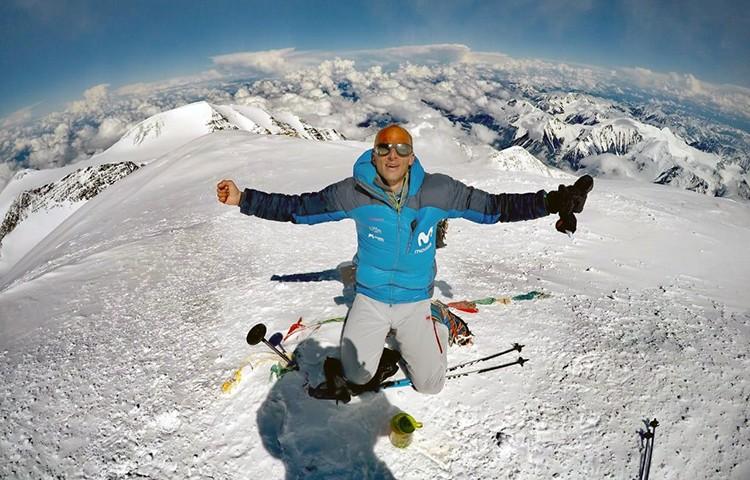 Karl Egloff, en la cima de Denali. Foto: FB Karl Egloff