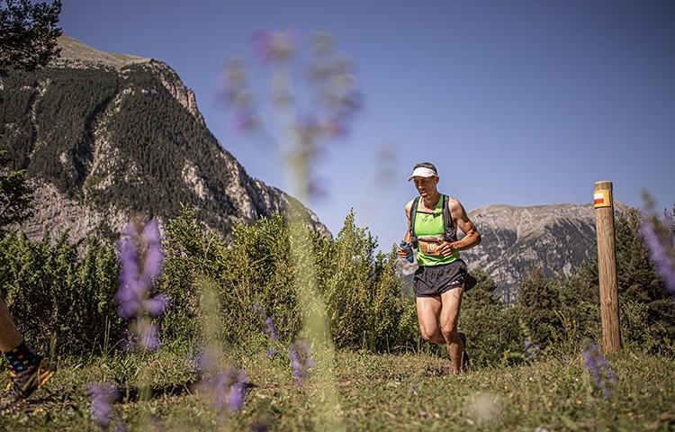 Un participante en el Gran Trail Sobrarbe 2019. Foto de John Ortiz
