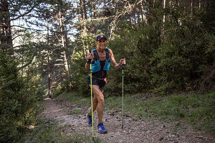 Nuria Sierra en el Gran Trail Sobrarbe. Foto: John Ortiz