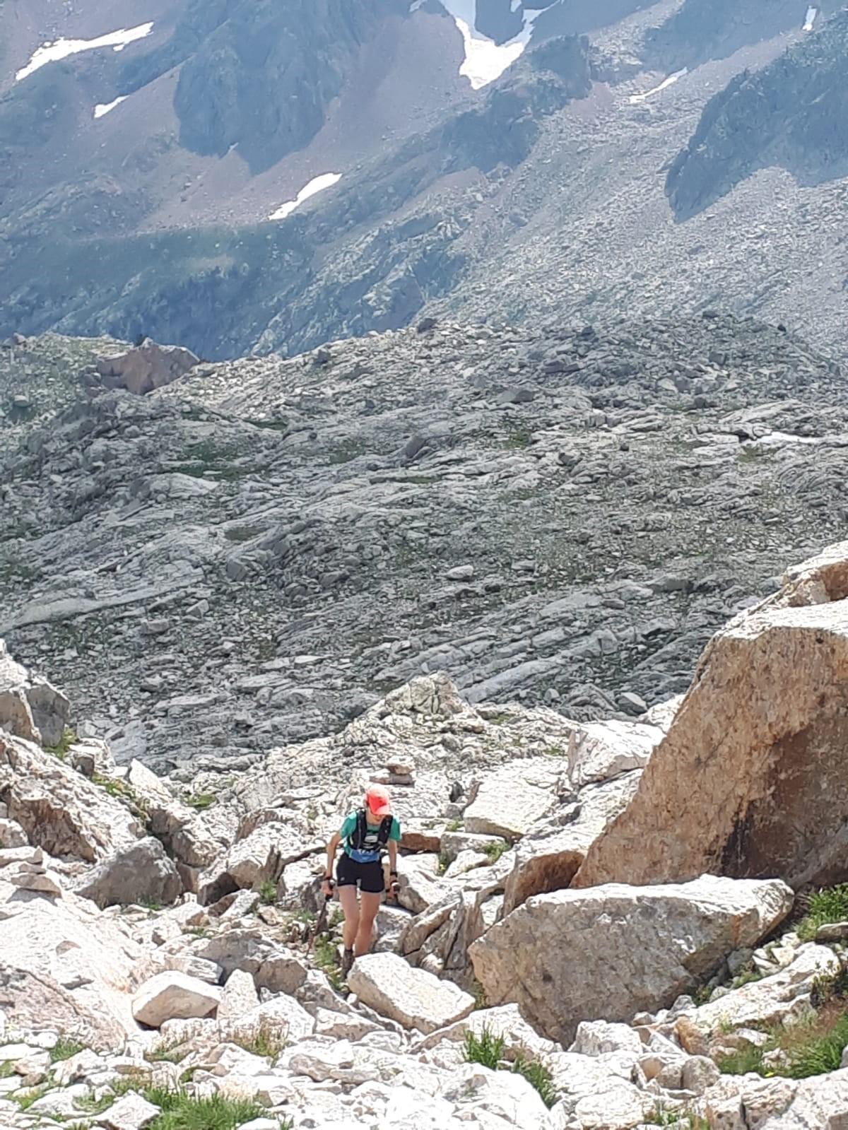 Llegando al collado de la Plana, Maratón de las Tucas. Foto: Jesús Poderos