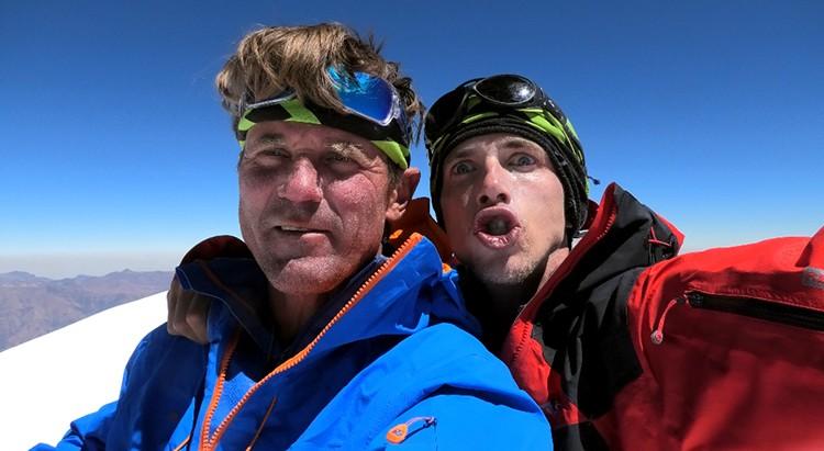 Marek Holecek y Radoslav Groh en Huandoy Norte. Foto: Facebook Holecek
