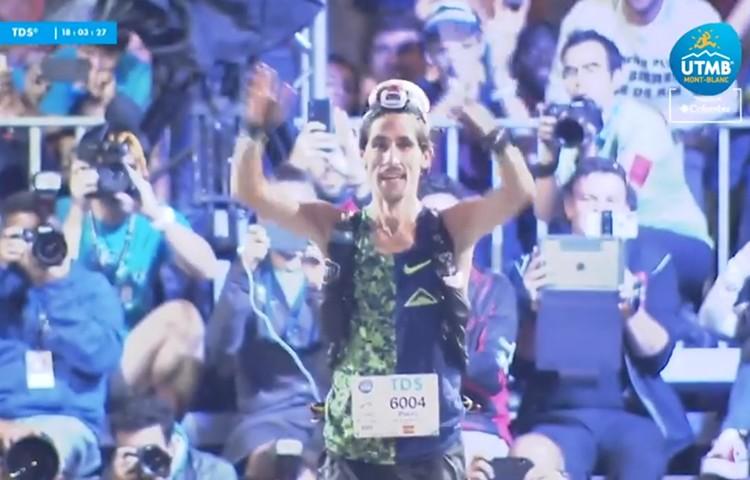 Pablo Villa entra vencedor en la TDS. Foto: Ultra Trail Mont Blanc, Columbia