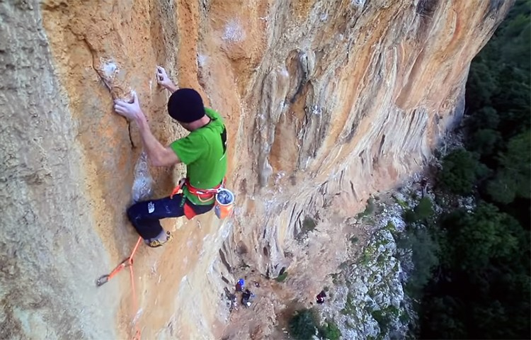 Iker Pou, en Big Men, Serra de Tramuntana, Mallorca. Foto: Filmut