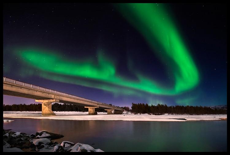 Aurora Boreal en Alta, Noruega. Foto: Javier Camacho