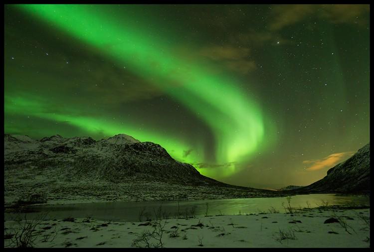 El casi sobrenatural espectáculo de las Luces del Norte. Foto: Javier Camacho