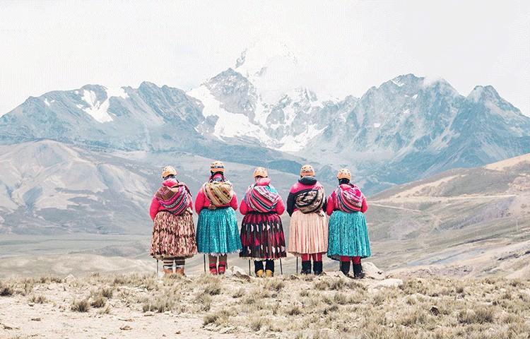 Las Cholitas Escaladoras, llega la película. Foto: FB Arena Comunicación Audiovisual