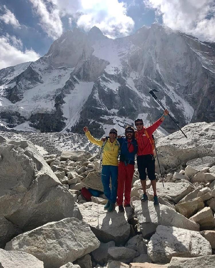 Expedición de Schaeli, Villanueva y Maynadier, al Meru. Foto: FB Maynadier