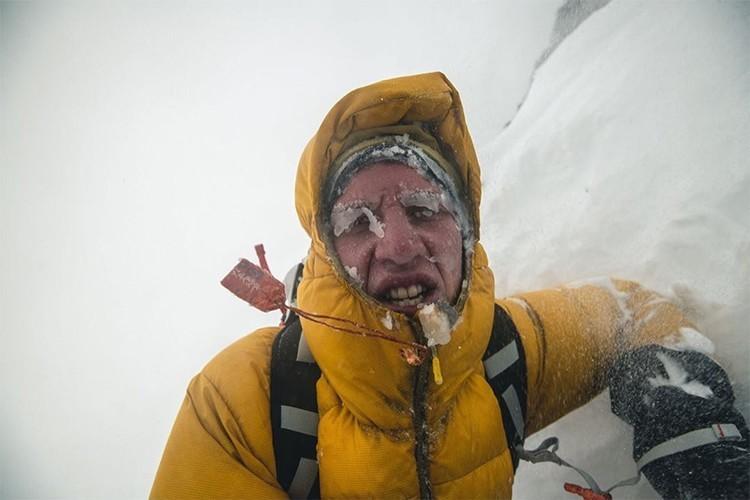 El joven alemán Jost Kobusch, al Everest invernal. Foto: Jost Kobusch