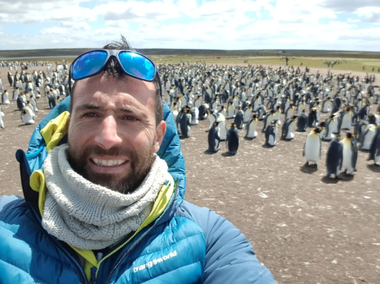 Alex Txikon, en la Antártida. Foto: Alex Txikon