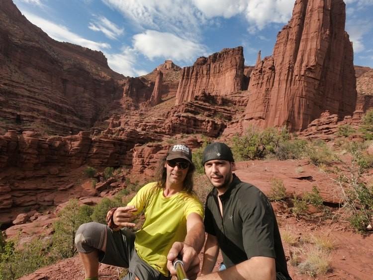 Pelut y Gibert en las Las Mistery Towers, en Moab. Foto: David Palmada