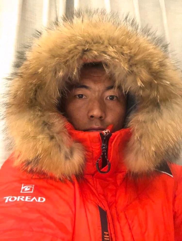 Mingma Gyalje Sherpa, a por el K2 invernal. Foto: FB: Mingma Sherpa