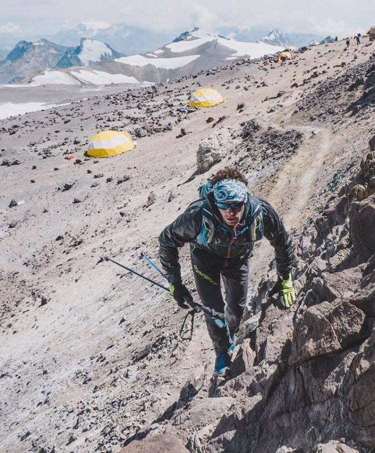 Martin Zhor, tiempo más rápido a cima Aconcagua. Foto: Emma Svensson, FB Martin Zhor