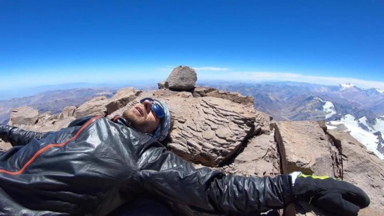 Martin Zhor, tiempo más rápido a cima Aconcagua. Foto: Emma Svensson