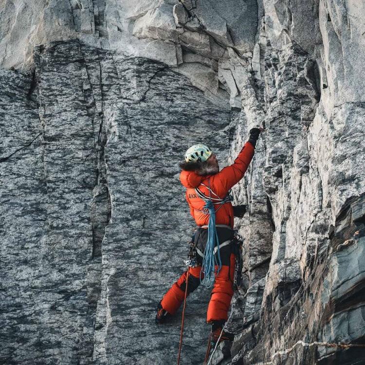 Jost Kobusch, abriendo la ruta hasta el Lho La. Foto: Daniel Hug