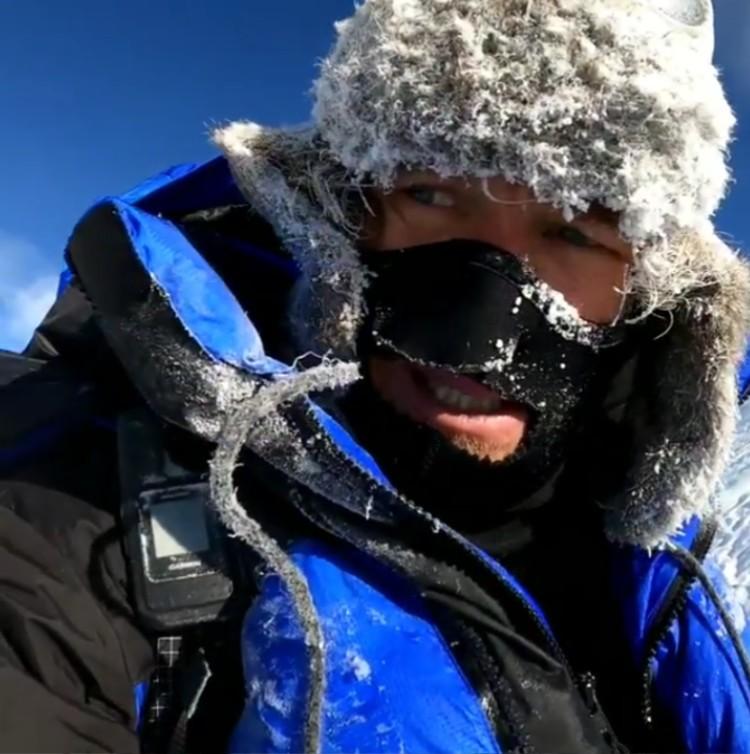 Don Bowie, evacuado del Broad Peak con neumonía. Foto: INST Don Bowie