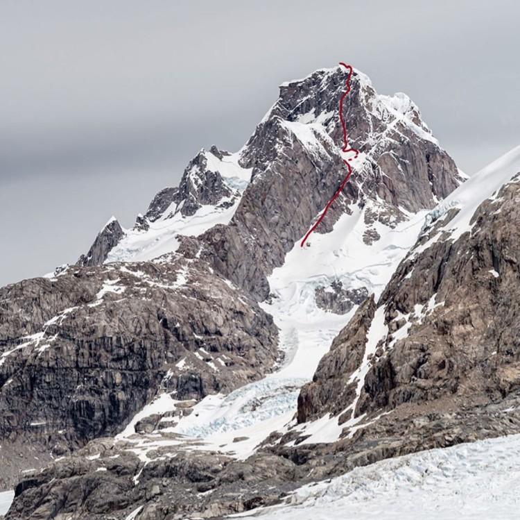 Hinterberger, Hojac y Siegrist, apertura en Cerro Cachet. Foto: FB Nicolas Hojac