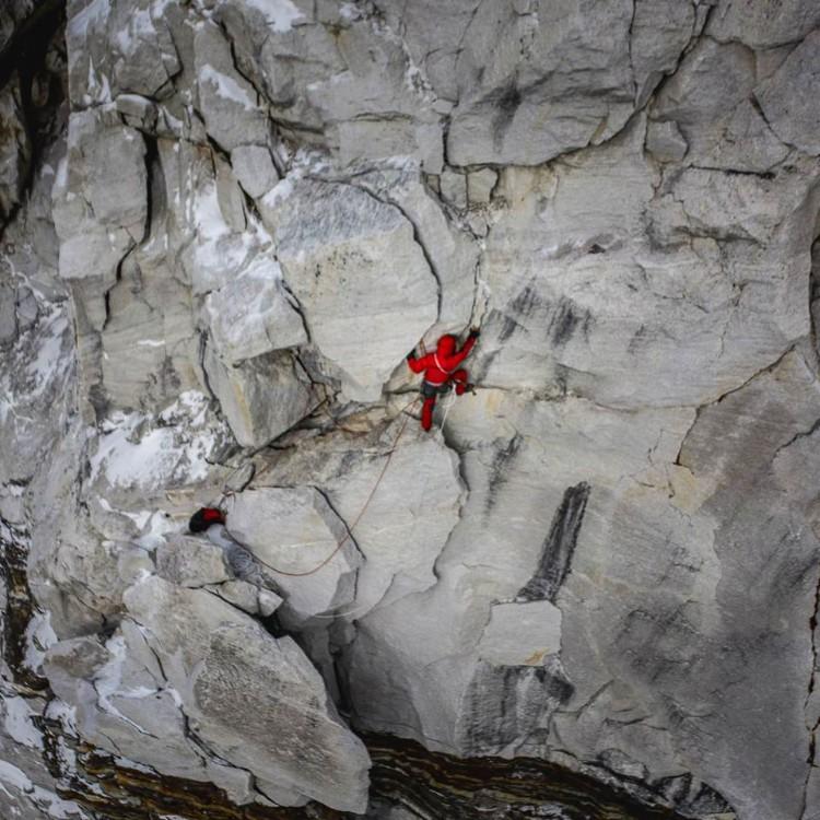 Jost Kobusch, abriendo hacia Lho La. Foto: Jost Kobusch