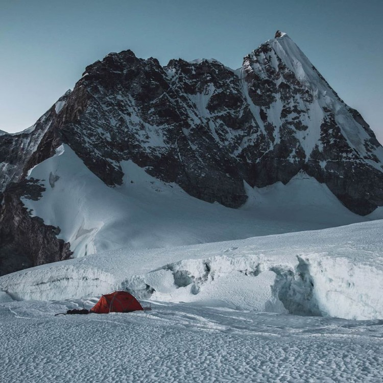 Jost Kobusch en campo 1, Lho La. Foto: Jost Kobusch