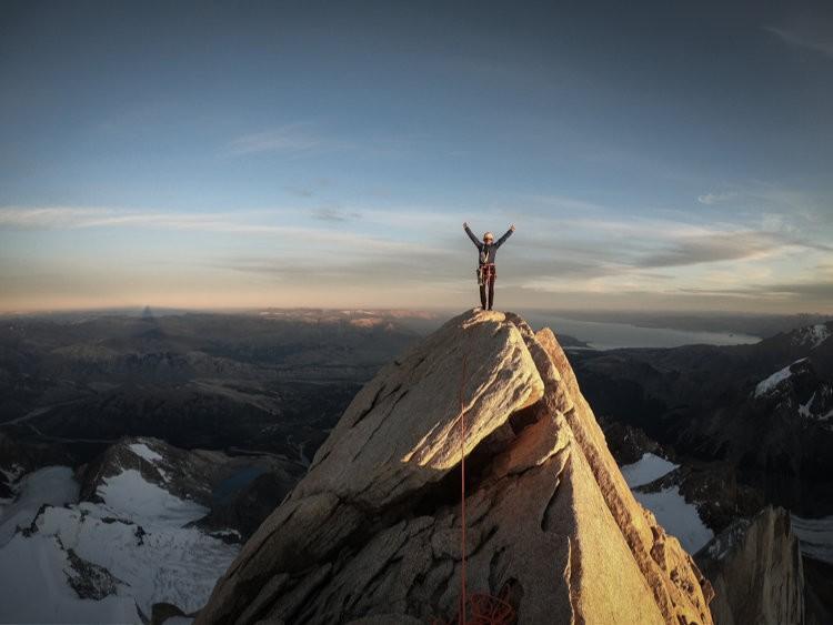 Roger Schaeli en Patagonia. Foto: Jonas Schild