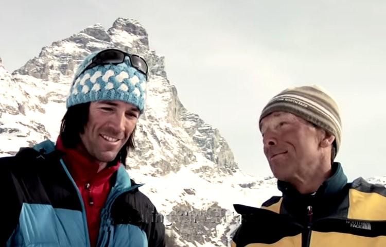 Hervé y Marco Barmasse. Una historia de amor por la montaña y la familia. Foto: H. Barmasse