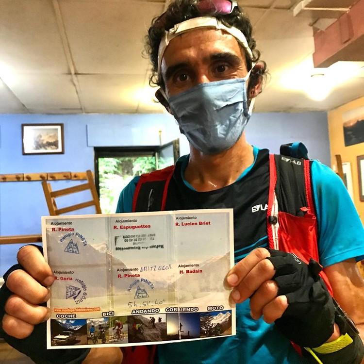 Aritz Egea finaliza la Monte Perdido Extrem con récord. Foto: Monte Perdido Extrem