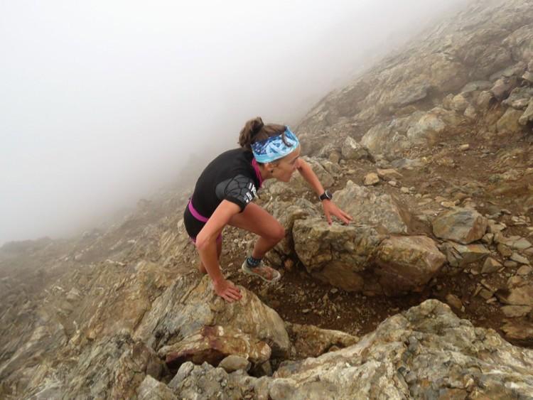 Virginia Pérez, en la subida a Garmo Negro. Foto: Ramón Ferrer, Monrasin