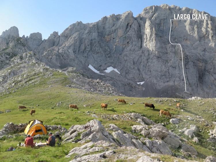 Situación actual de la escalada de los Pou y Cerdá en Peña Santa. Foto: Hermanos Pou