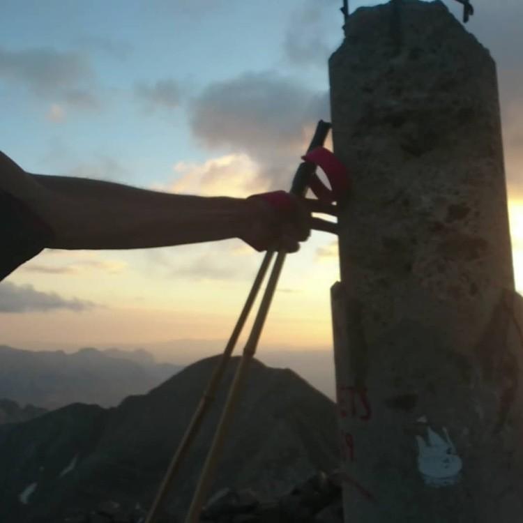 Manuel Merillas, cima del Posets. Foto: FB Manuel Merillas