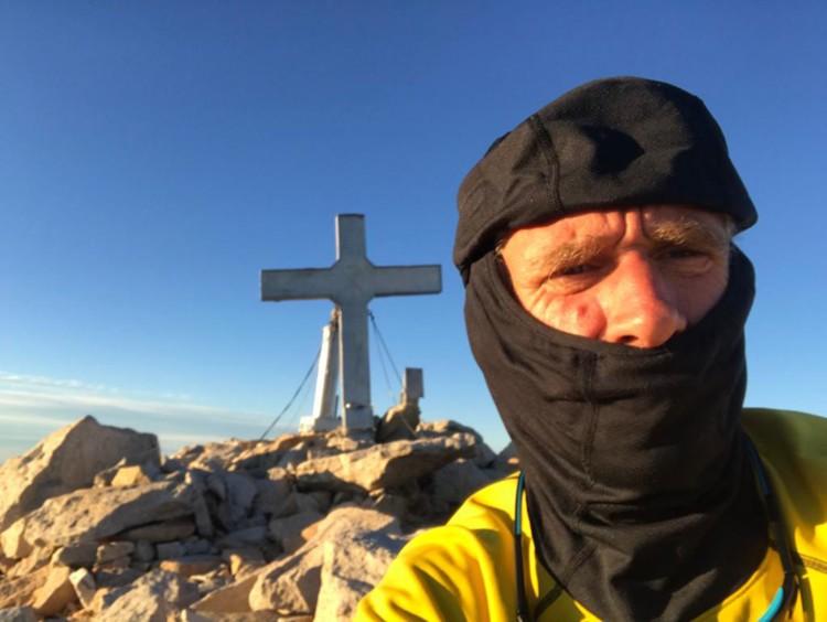 Toni Arbonès, este martes en la cima del Aneto. Foto: Toni Arbonès