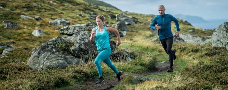 Corriendo con prendas inferiores y superiores totalmente en lana merina. Foto: Devold