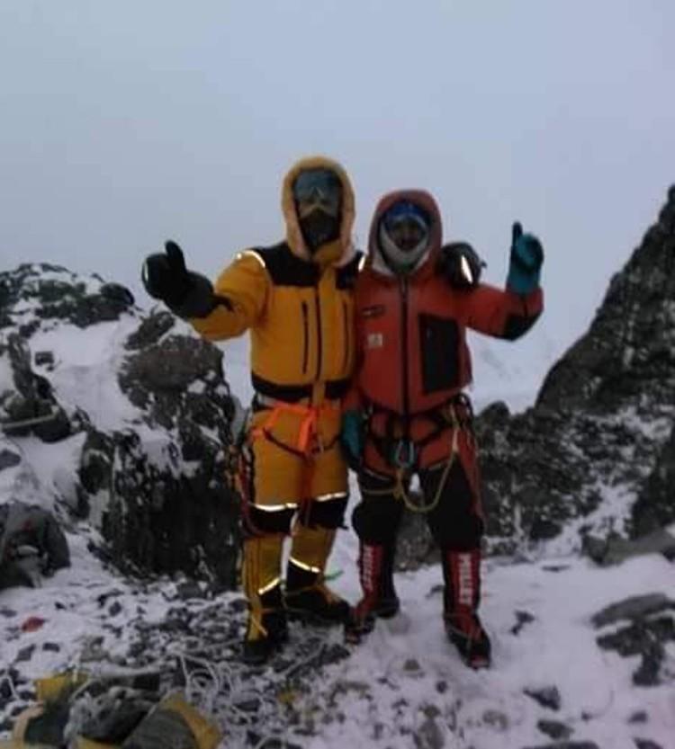 Ali Sadpara y John Snorri, en el K2 invernal. Foto: John Snorri