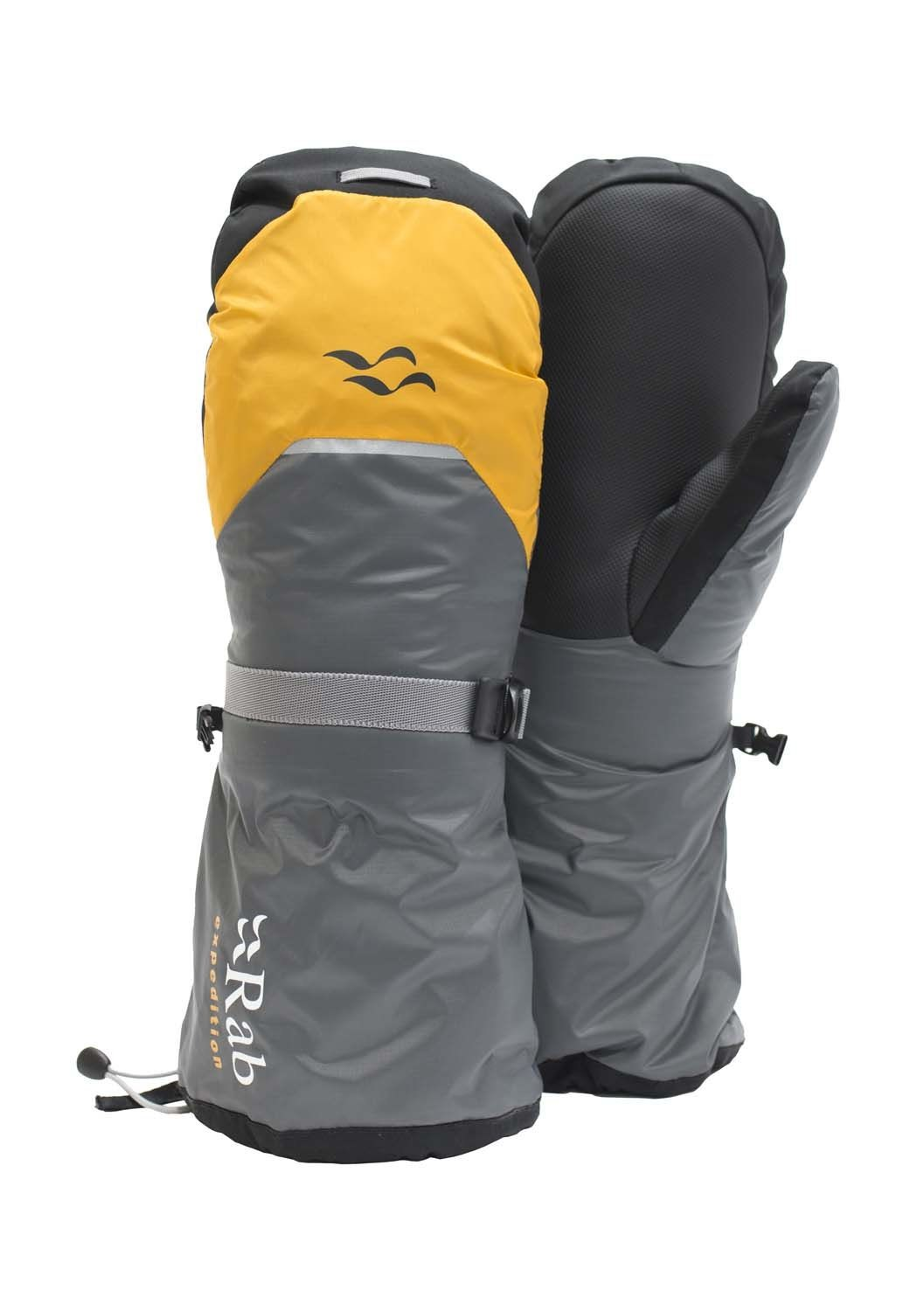 Rab Expedition 8000 Mitts, rellenos de pluma, con Polartec Gold en la palma