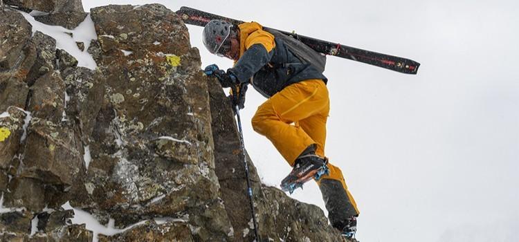 Zonas alpinas sin tablas en esquí de travesía, botas con crampones: Foto: Scarpa