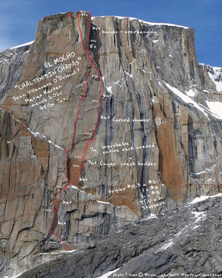 Chalten sin chapas en Patagonia. Foto: Patagonia Vertical