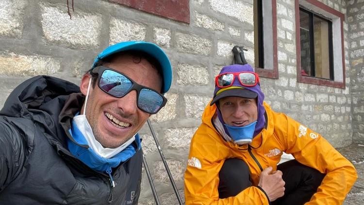 Kilian Jornet y David Goettler, en el Khumbu estos días. Foto: Kilian Jornet